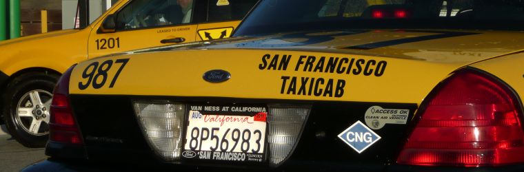 Photo of a CNG-powered taxicab